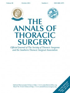 The Annals of the Thoracic Surgery is the official journal of the Southern Thoracic Surgical Association and The Society of Thoracic Surgeons.
