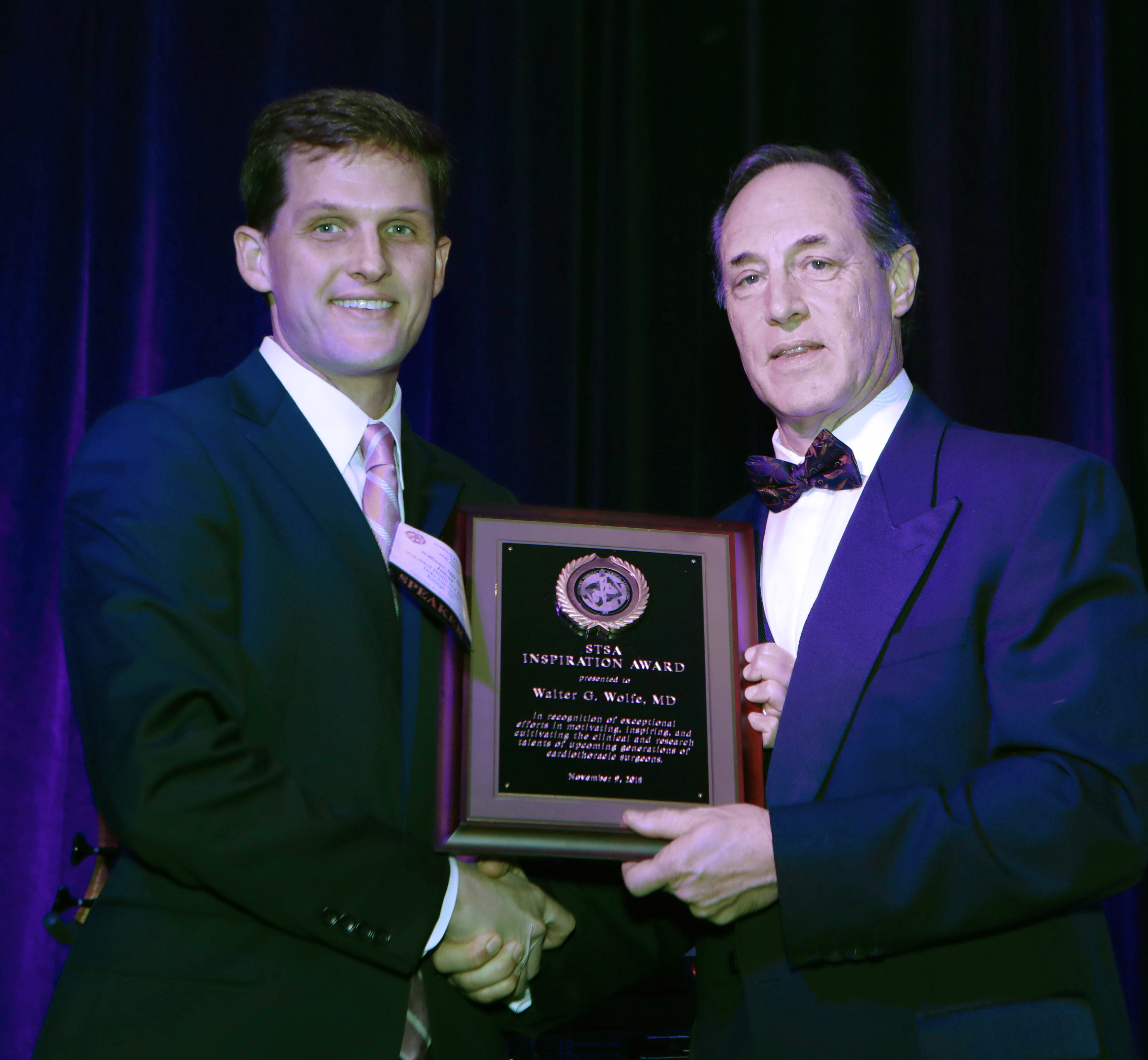 2018 STSA Inspiration Award Recipient: Walter Wolfe, MD